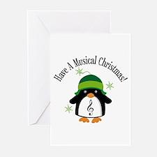 Musical Christmas Penguin Gift Greeting Cards (Pk