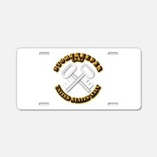 Navy - Rate - SK Aluminum License Plate