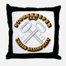 Navy - Rate - SK Throw Pillow