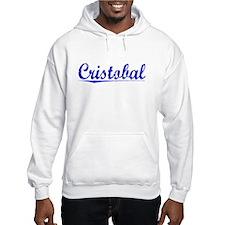 Cristobal, Blue, Aged Hoodie