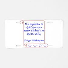 Impossible Aluminum License Plate