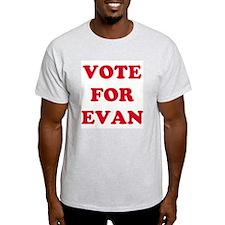 VOTE FOR EVAN  Ash Grey T-Shirt