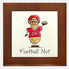 Football Nut (red) Framed Tile