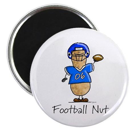 Football Nut (blue) Magnet