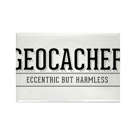 Geocacher - Eccentric but Harmless Rectangle Magne