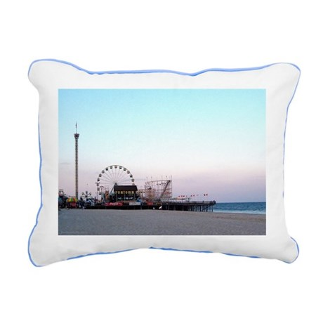 Seaside NJ Canvas Pillow