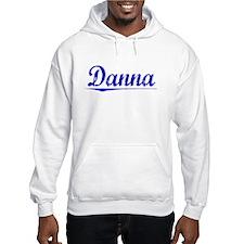 Danna, Blue, Aged Hoodie Sweatshirt