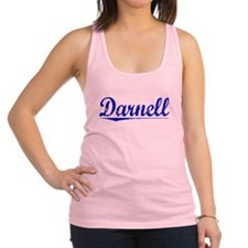 Darnell, Blue, Aged Racerback Tank Top