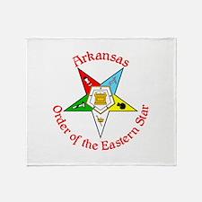 Arkansas Eastern Star Throw Blanket