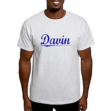 Davin, Blue, Aged T-Shirt