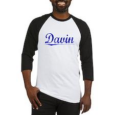 Davin, Blue, Aged Baseball Jersey