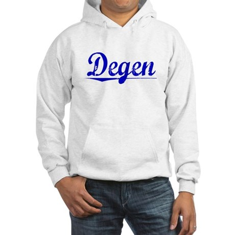 Degen, Blue, Aged Hooded Sweatshirt