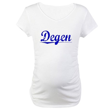 Degen, Blue, Aged Maternity T-Shirt