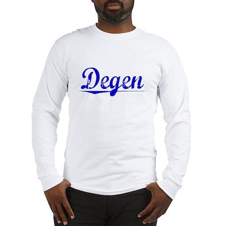 Degen, Blue, Aged Long Sleeve T-Shirt