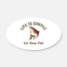 Life is Simple Oval Car Magnet