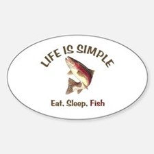 Life is Simple Sticker (Oval)