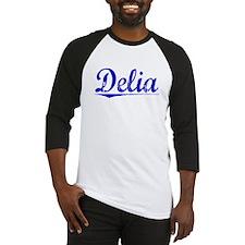 Delia, Blue, Aged Baseball Jersey