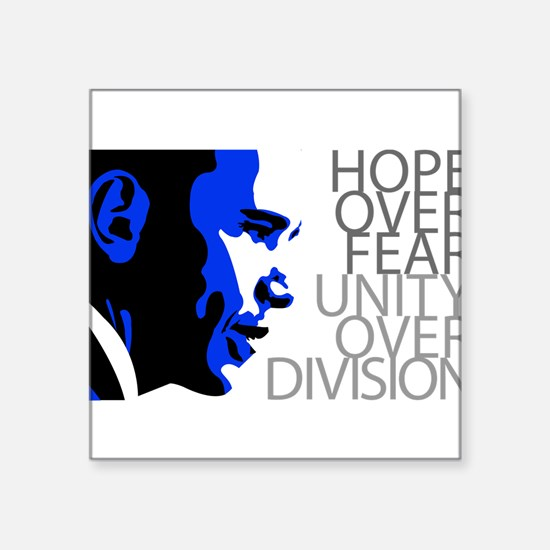 Obama - Hope Over Division - Blue Sticker
