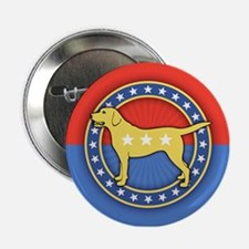 "Yellow Dog 2.25"" Button"