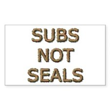 Subs Not Seals Rectangle Decal