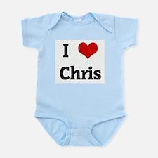 I Love Chris Infant Creeper