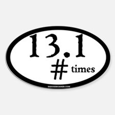 13.1 How many times? - Oval - single digit