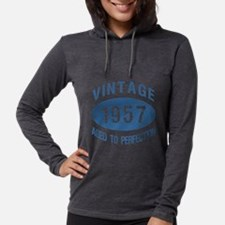 1957 Vintage Birthday Womens Hooded Shirt