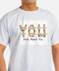 Nuts About You Peanuts Ash Grey T-Shirt