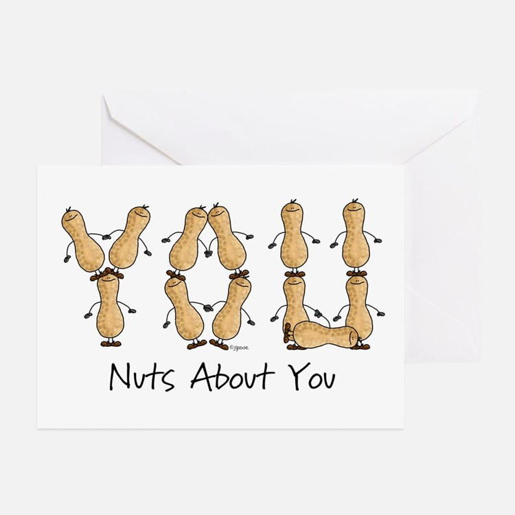 Nuts About You Peanuts Greeting Cards (Package of