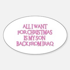SON BACK FROM IRAQ Oval Decal