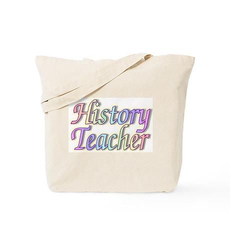 """History Teacher Rainbow"" Tote Bag"