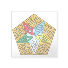 "Eastern Star Celtic Knot Square Sticker 3"" x 3"""