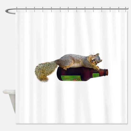 Squirrel Empty Bottle Shower Curtain
