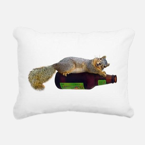Squirrel Empty Bottle Rectangular Canvas Pillow
