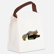 Squirrel Empty Bottle Canvas Lunch Bag