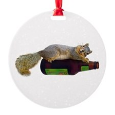 Squirrel Empty Bottle Ornament