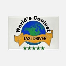 Cute Taxi driver Rectangle Magnet