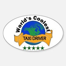 Cute Taxi driver Sticker (Oval)