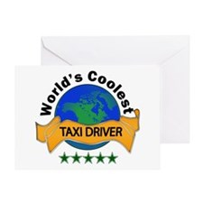 taxi driver Greeting Cards