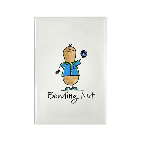 Bowling Nut Rectangle Magnet