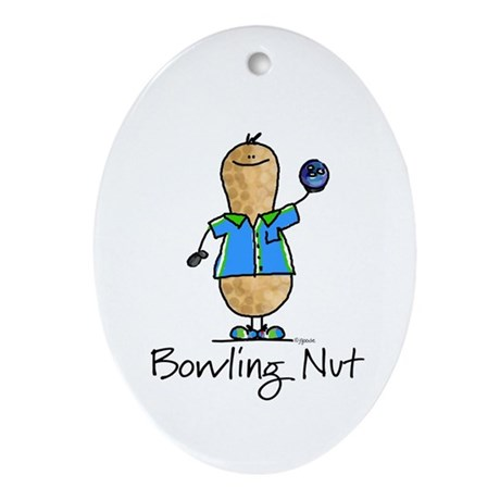 Bowling Nut Oval Ornament