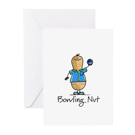Bowling Nut Greeting Cards (Pk of 10)
