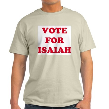 VOTE FOR ISAIAH Ash Grey T-Shirt