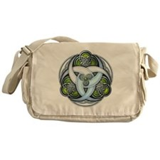Celtic Triple Crescents - Green Messenger Bag