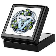Celtic Triple Crescents - Green Keepsake Box