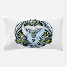 Celtic Triple Crescents - Green Pillow Case