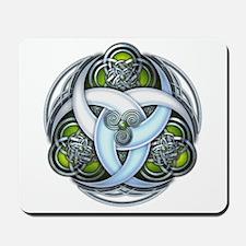 Celtic Triple Crescents - Green Mousepad