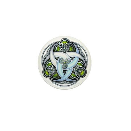 Celtic Triple Crescents - Green Mini Button (100 p