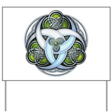 Celtic Triple Crescents - Green Yard Sign