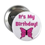 It's My Birthday! Butterfly Button